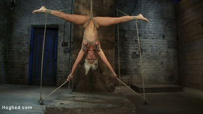 Photo number 12 from 5 Time Romanian National Gymnastic Champion.   Seriously! shot for Hogtied on Kink.com. Featuring Lea Lexis in hardcore BDSM & Fetish porn.