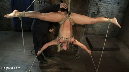 Photo number 13 from 5 Time Romanian National Gymnastic Champion.   Seriously! shot for Hogtied on Kink.com. Featuring Lea Lexis in hardcore BDSM & Fetish porn.