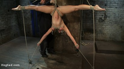 Photo number 6 from 5 Time Romanian National Gymnastic Champion.   Seriously! shot for Hogtied on Kink.com. Featuring Lea Lexis in hardcore BDSM & Fetish porn.