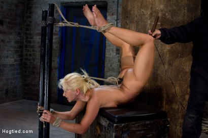 Photo number 12 from We put our Romanian gymnast champion<br>into the Scorpion Tie<br>and make her cum over and over. shot for Hogtied on Kink.com. Featuring Lea Lexis in hardcore BDSM & Fetish porn.