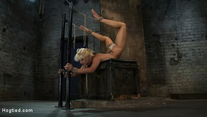 Photo number 9 from We put our Romanian gymnast champion<br>into the Scorpion Tie<br>and make her cum over and over. shot for Hogtied on Kink.com. Featuring Lea Lexis in hardcore BDSM & Fetish porn.
