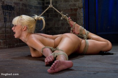 Photo number 1 from Former Romanian Gymnast puts her flexibility to the test as she is   brutally bound on the floor. shot for Hogtied on Kink.com. Featuring Lea Lexis in hardcore BDSM & Fetish porn.