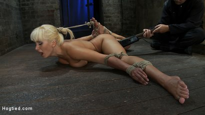 Photo number 12 from Former Romanian Gymnast puts her flexibility to the test as she is   brutally bound on the floor. shot for Hogtied on Kink.com. Featuring Lea Lexis in hardcore BDSM & Fetish porn.