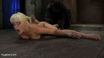 Photo number 9 from Former Romanian Gymnast puts her flexibility to the test as she is   brutally bound on the floor. shot for Hogtied on Kink.com. Featuring Lea Lexis in hardcore BDSM & Fetish porn.