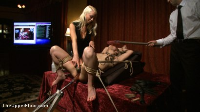 Photo number 7 from House Supper and Slave Initiation shot for The Upper Floor on Kink.com. Featuring Jessie Cox and Holly Heart in hardcore BDSM & Fetish porn.