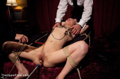 Photo number 13 from House Supper and Slave Initiation shot for The Upper Floor on Kink.com. Featuring Jessie Cox and Holly Heart in hardcore BDSM & Fetish porn.