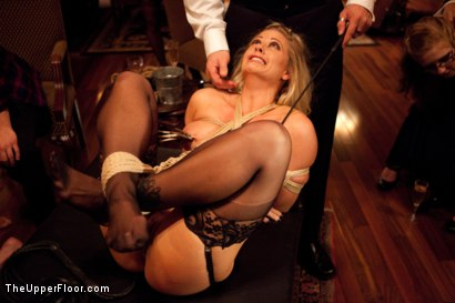 Photo number 3 from House Supper and Slave Initiation shot for The Upper Floor on Kink.com. Featuring Jessie Cox and Holly Heart in hardcore BDSM & Fetish porn.